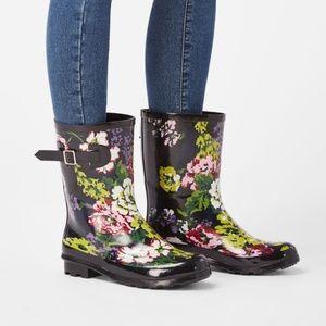 Storm Season Rain Boots Floral Rain Snow Boots NEW